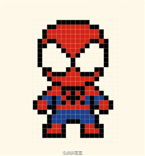 spiderman bead pattern spiderman perler bead pattern hama pinterest perler