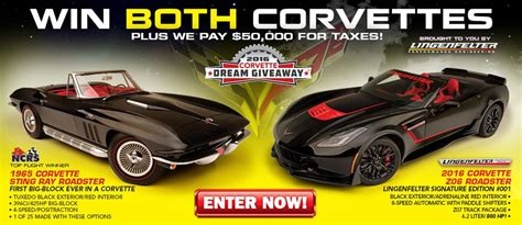 Dream Giveaway Review - win these two special corvettes in the 2016 corvette dream giveaway corvette sales