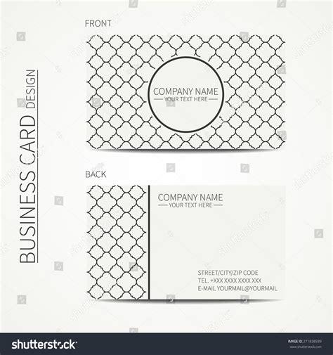 lattice card template geometric lattice monochrome business card template stock