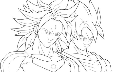 broly ssj3 coloring pages coloring pages