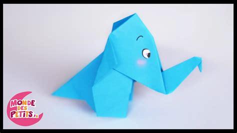 Origami L - origami l elephant en papier