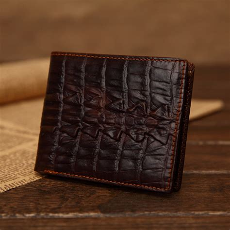 Gesper Rel Crocodille Leather Quality aliexpress buy designer s classical vintage crocodile leather purse brown high