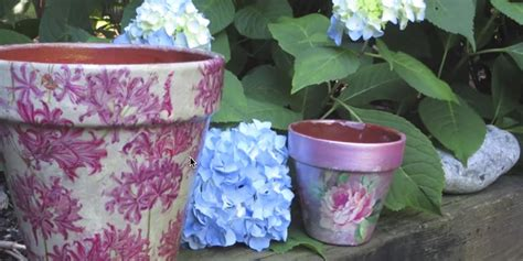 Decoupage For Outdoors - how to decoupage and weatherproof clay pots they re