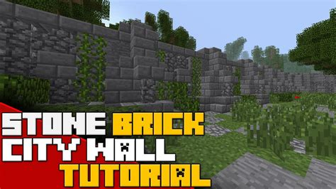 minecraft walls tutorial minecraft stone city wall tutorial scarring stone