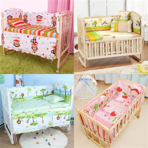 New Baby Cribs 5pcs Baby Crib Bedding Set Bedding Set 100x58cm