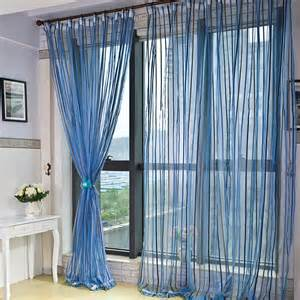 Modern brief chenille stripe curtains for living room balcony door