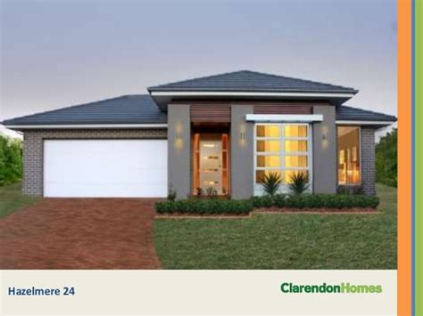 clarendon homes single storey designs
