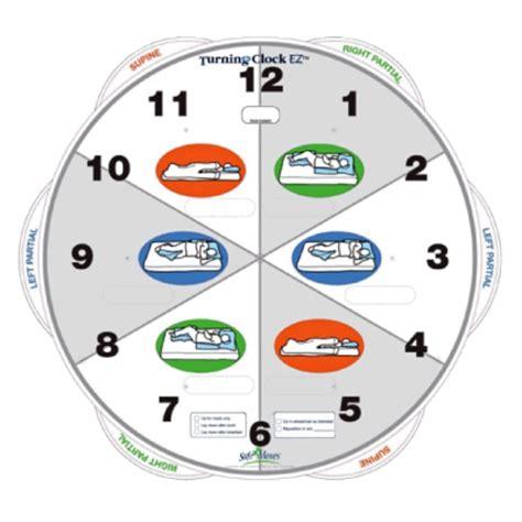 printable turning schedule clock turning clock ez