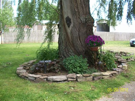Tree Garden Ideas We Built This Small Wall Around Our Ancient Willow Tree Out Of Found Rock And A Jeep Load From