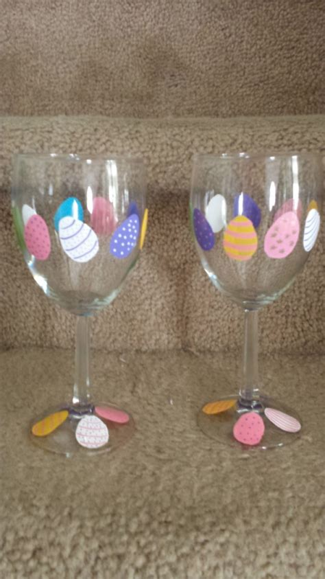 pretty easter eggs pretty easter egg wine glass set aftcra