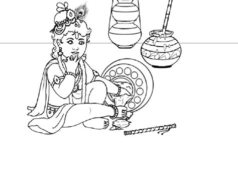 coloring pages of baby krishna baby krishna coloring pages