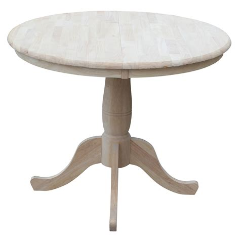 "August Grove 36"" Extendable Round Pedestal Dining Table"