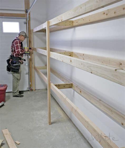 build garage shelves best 25 shelves for garage ideas on building garage shelves garage tool