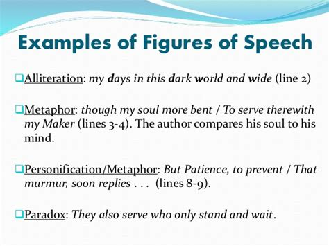 Poem With Figures Of Speech Sle poem analysis on on his blindness by milton