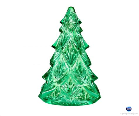 waterford christmas tree medium sculpture green