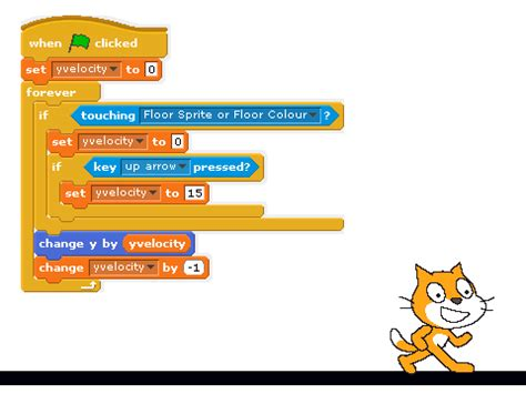 how to a from jumping on how to make a character jump a script remix 2 on scratch