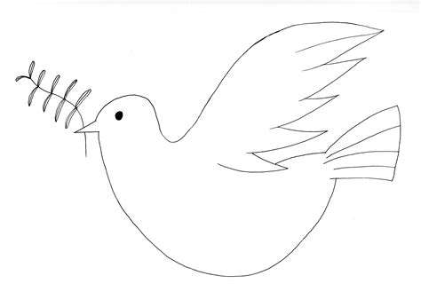 dibujos para colorear de la paloma del espiritu santo paloma de la paz dibujos para colorear pinterest