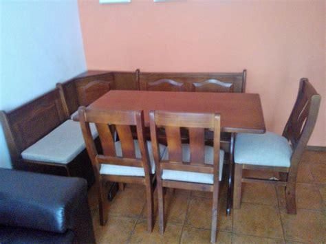 juego de comedor esquinero   sillas ombu muebles uruguay