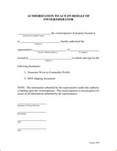 Authorization Letter Act Behalf Sample sample letter of authorization to act on behalf authorization letter