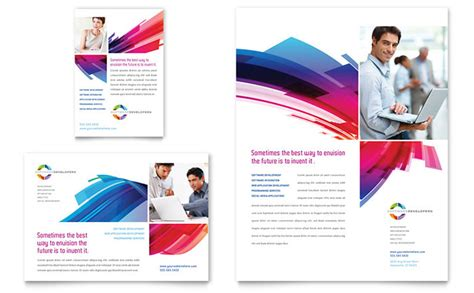 pdf flyer template software solutions flyer ad template design