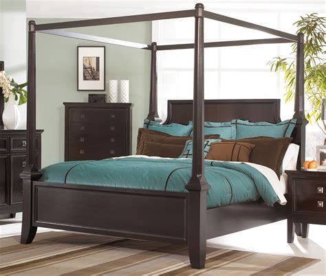 bedroom sets with canopy beds martini suite california king size canopy bed from millennium by ashley furniture