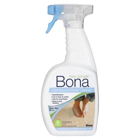 bona free simple wood floor cleaner unoclean