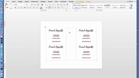 how to make a brochure in microsoft word for a mac