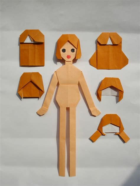 How To Fold And Cut Paper Dolls - origami doll crafts