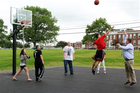 backyard sports academy outdoor basketball court ready for players the foxcroft