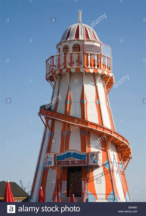 helta skeltar helter skelter funfair attraction on the pier at clacton
