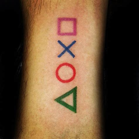 50 playstation tattoo designs for men video game ink ideas