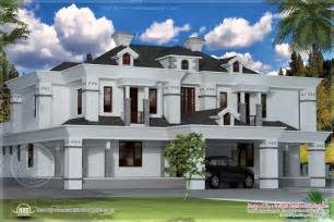 4400 sq ft victorian style exterior home kerala plans