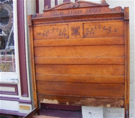 Antique Wood Headboards by 1800s Antique Vintage Wood Bed Headboard