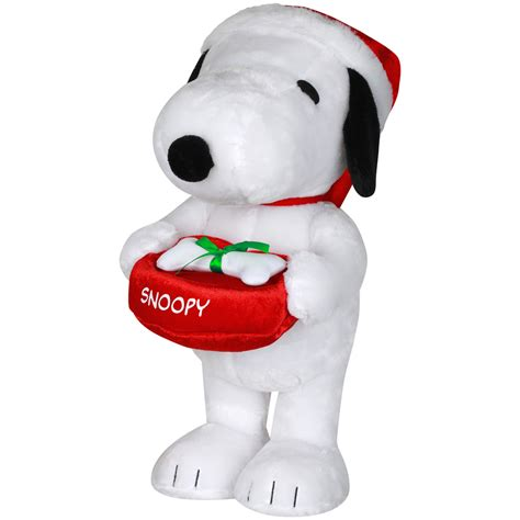 shop gemmy freestanding snoopy indoor christmas decoration