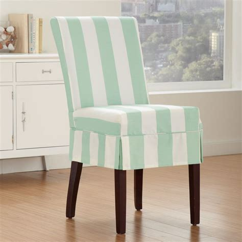tropical light blue  white striped patterned chairs