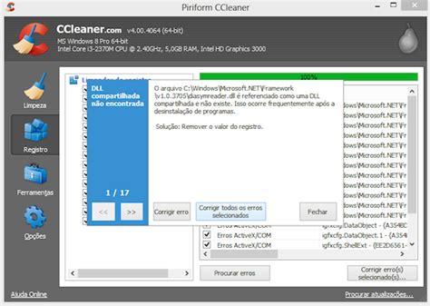 ccleaner que é isso como restaurar a configura 231 227 o padr 227 o do registro apagados