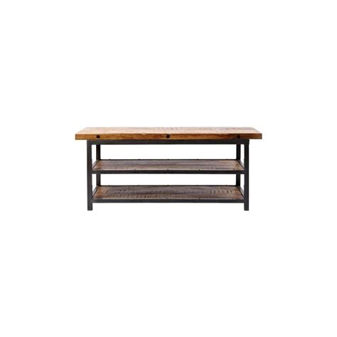 home decorators bench home decorators collection holbrook storage natural reclaimed bench 9601200950 the home depot
