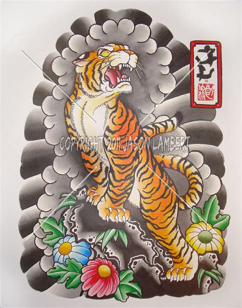 asian tiger tattoo designs japanese
