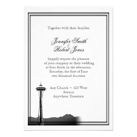 Wedding Invitations Seattle by 1000 Images About Seattle Skyline Wedding Theme On