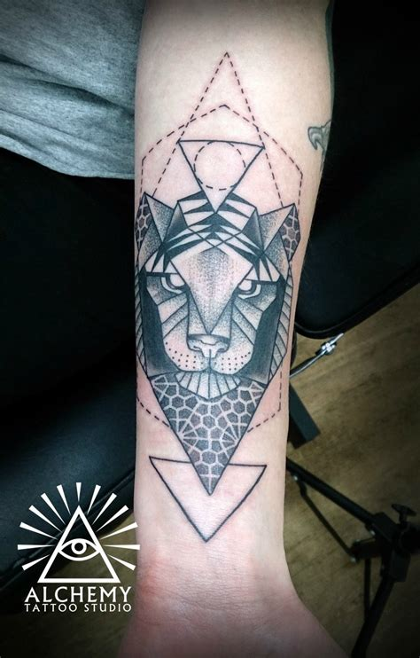 tattoo geometric melbourne geometric tiger by aleks alchemy tattoo melbourne au