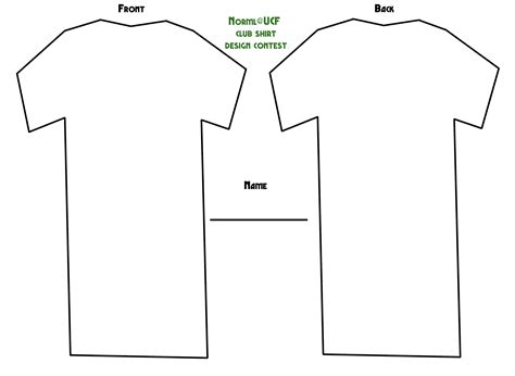 12 printable t shirt template images blank t shirt