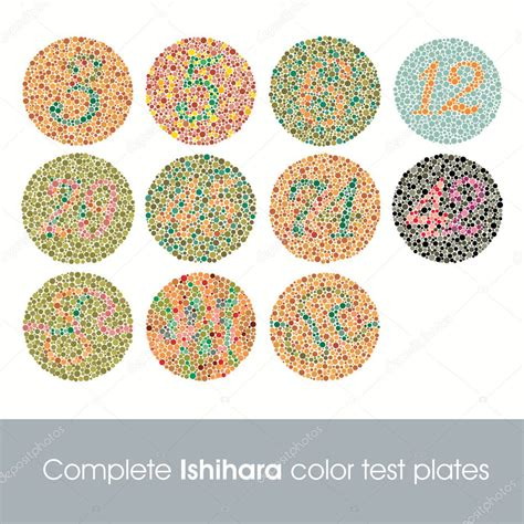 term for color blindness test ishihara