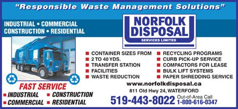 norfolk disposal services waterford on 811 hwy 24