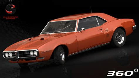 pontiac 1968 models pontiac firebird 1968 3d model