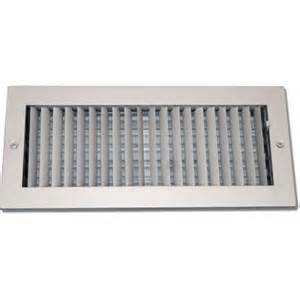 speedi grille 4 in x 10 in steel ceiling or wall register white with adjustable single