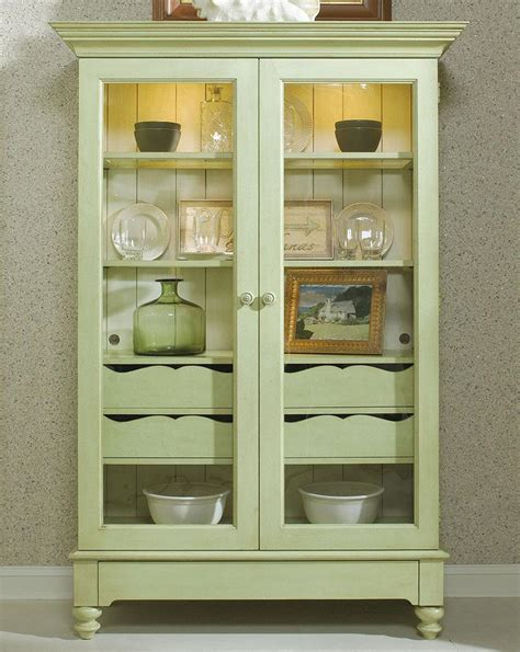 Display Cabinet With Glass Doors And Drawers