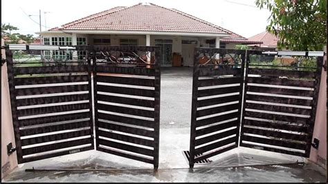 Outdoor Garage Designs folding gate opener run youtube