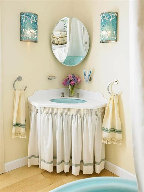 pedestal sink curtain 26 ideas to steal for your apartment