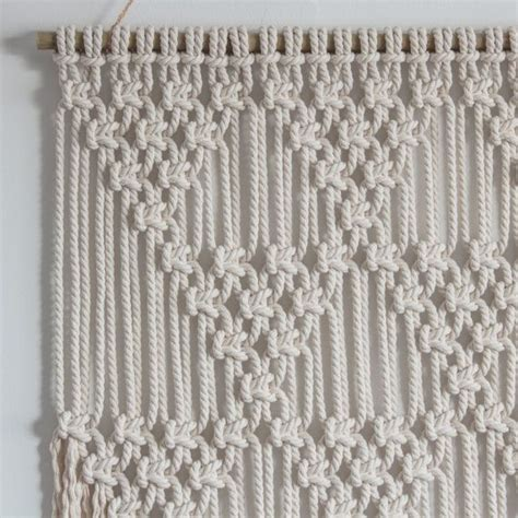 Macrame Rope Patterns - macrame wall hanging gt triangles gt 100 cotton cord in