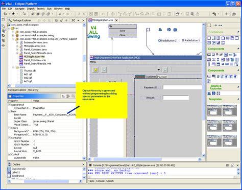 swing xml v4all gui designer for eclipse screenshots